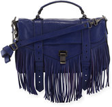 Proenza Schouler PS1 Fringe Medium Satchel Bag, Blue