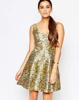 Adelyn Rae Gold Skater Dress