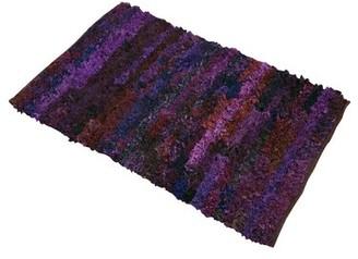 Ebern Designs Handmade Shag PurpleAArea Rug