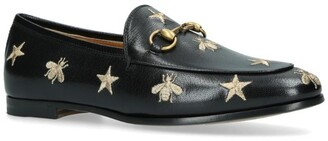 Gucci Embroidered Jordaan Loafers