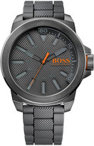 BOSS ORANGE Men's Gray Silicone Strap Watch 50mm 1513005