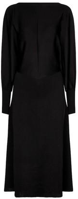 Victoria Beckham Open-back stretch-knit midi dress