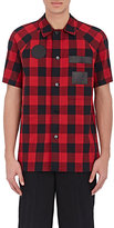 Alexander Wang MEN'S PLAID SHORT-SLEEVE SHIRT JACKET SIZE 48 EU