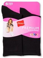 Hanes Women's Lite Crew Socks 6-Pack