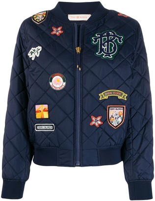 Tory Burch Quilted Badge Jacket