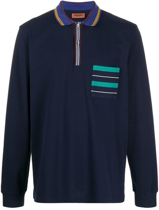Missoni Stripe-Detailing Long-Sleeve Polo Shirt