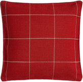 "French Laundry Home Red Windowpane Plaid Pillow, 20""Sq."