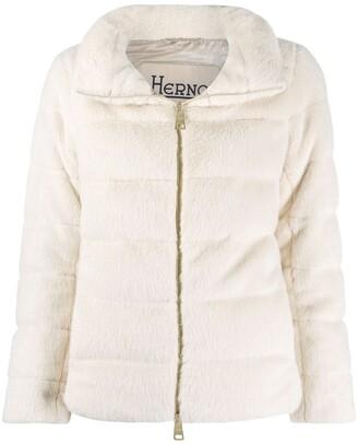 Herno Zip-Up Shearling Jacket