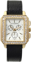 Journee Collection Womens Crystal-Accent Interchangeable Strap and Watch Set