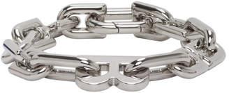 Balenciaga Silver B Chain Link Bracelet