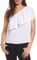 BP Women's One-Shoulder Ruffle Top