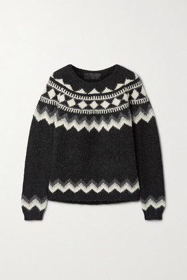 Nili Lotan Adene Fair Isle Alpaca-blend Sweater - Gray