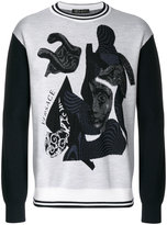 Versace Medusa jumper - men - Polyamide/Viscose/Wool - 46