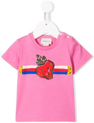 Gucci Kids strawberry print T-shirt