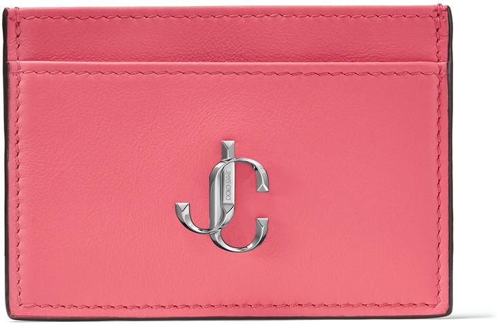 Jimmy Choo UMIKA Bubblegum Pink Calf Leather Card Holder