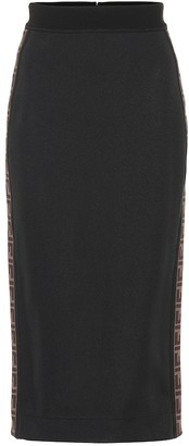 Fendi Jersey pencil skirt