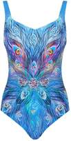 Gottex Feather Pattern Swimsuit