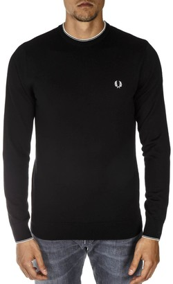 Fred Perry Black Wool Sweater