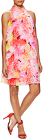 Eliza J Floral Print Tier Shift Dress