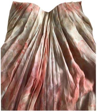 Alexander McQueen Beige Silk Dresses