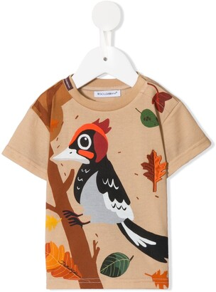 Dolce & Gabbana Kids woodpecker-print T-shirt