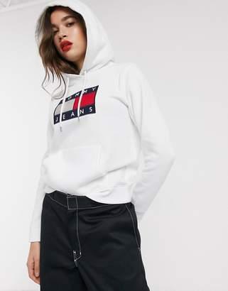 Tommy Jeans metallic logo hoodie