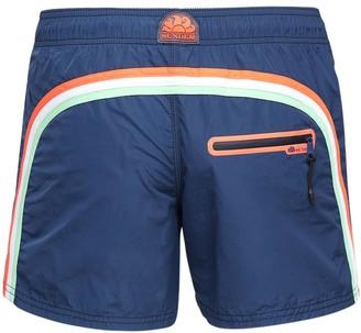 Sundek Logo Nylon Swim Shorts