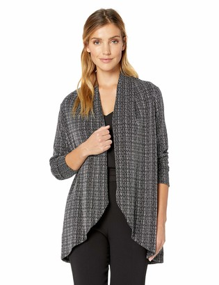 Chaus Women's Long Sleeve Sparkle Stripe Cardigan