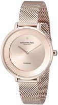 Stuhrling Original Women's 589.05 Symphony Analog Display Quartz Rose Gold-Tone Watch