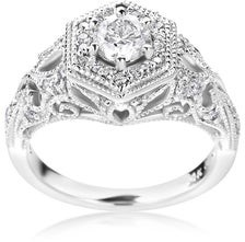 Summerrose Jewelry 14k White Gold 1ct TDW Vintage Diamond Engagement Ring