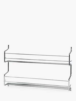 Hahn Wall-Mounted Steel Spice Rack with 2 Shelves