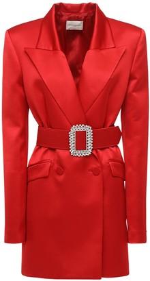 Giuseppe di Morabito Wool Blend Satin Jacket Dress