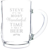 Wonderful Time For A Beer. Glass Tankard