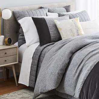 west elm Belgian Linen Velvet Bedding Set - Slate