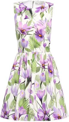 Alice + Olivia Joyce Floral-print Stretch-cotton Poplin Mini Dress