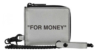 Off-White Silver Leather Purses, wallets & cases