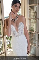 Women's Berta Plunging V-Neck Strapless Lace Dress