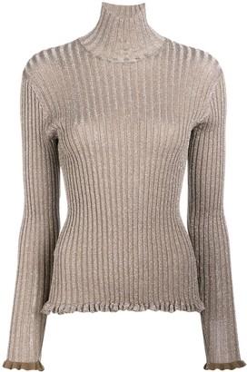 Chloé ribbed metallic jumper
