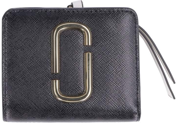 Marc Jacobs Snapshot Mini Two-tone Leather Wallet