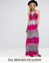 Glamorous Tall Cami Strap Maxi Dress In Tie Dye Print