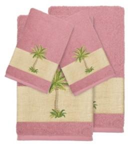 Linum Home Turkish Cotton Colton 4-Pc. Embellished Towel Set Bedding