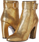 Just Cavalli Python Leather Ankle Boot Women's Boots