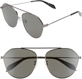 Alexander McQueen 62mm Aviator Sunglasses