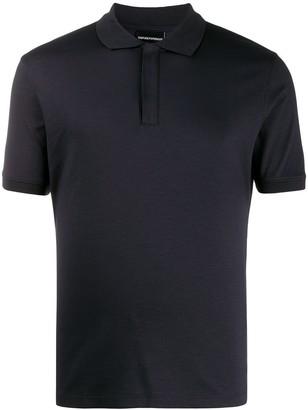 Emporio Armani plain polo shirt