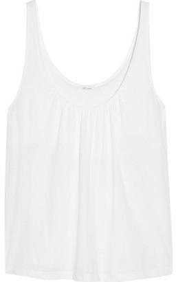 Skin Kendall Gathered Organic Pima Cotton-jersey Tank
