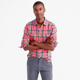 J.Crew Slim midweight flannel shirt in lodge orange plaid