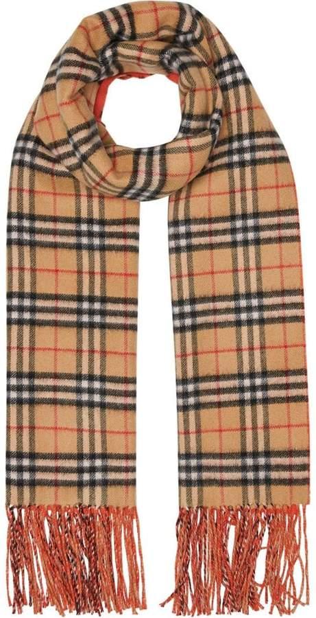 Burberry colour block vintage check scarf