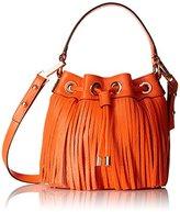 Milly Essex Fringe Mini Drawstring Bucket Handbag Cross Body Bag