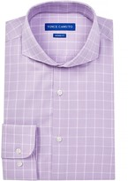 Vince Camuto Oxford Trim Fit Windowpane Dress Shirt
