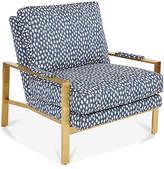 Joe Ruggiero Collection Frank Accent Chair - Indigo/White Sunbrella